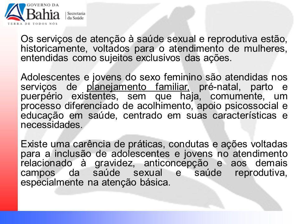 Os serviços de atenção à saúde sexual e reprodutiva estão, historicamente, voltados para o atendimento de mulheres, entendidas como sujeitos exclusivos das ações.