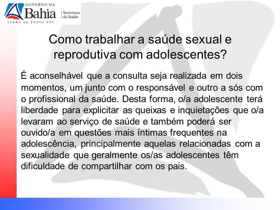 Como trabalhar a saúde sexual e reprodutiva com adolescentes