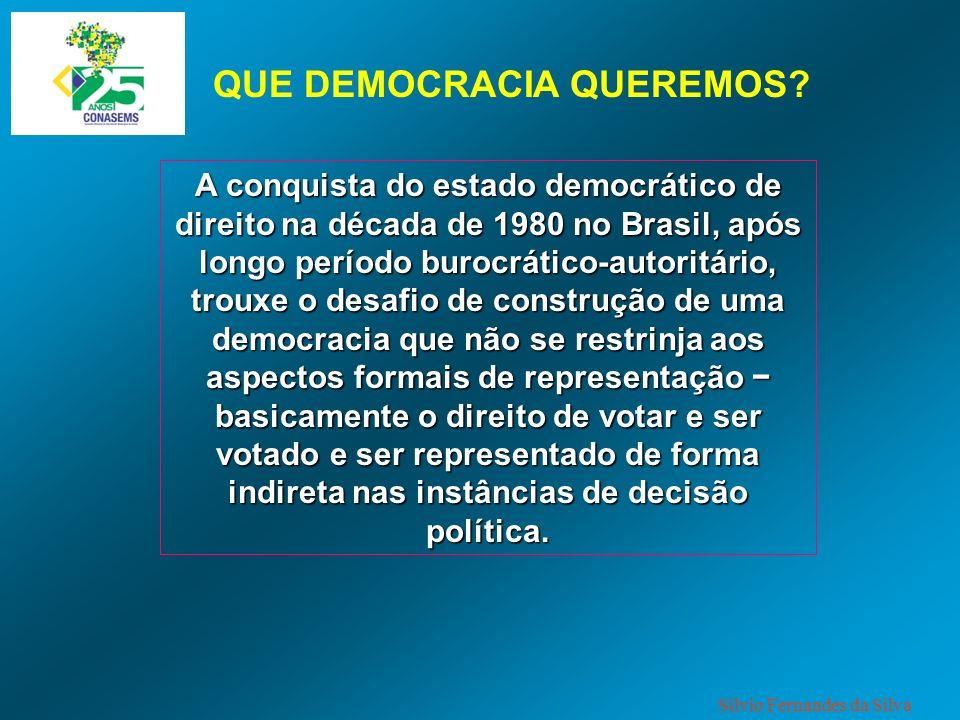 QUE DEMOCRACIA QUEREMOS