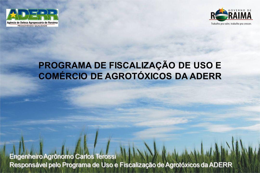 PROGRAMA DE FISCALIZAÇÃO DE USO E COMÉRCIO DE AGROTÓXICOS DA ADERR
