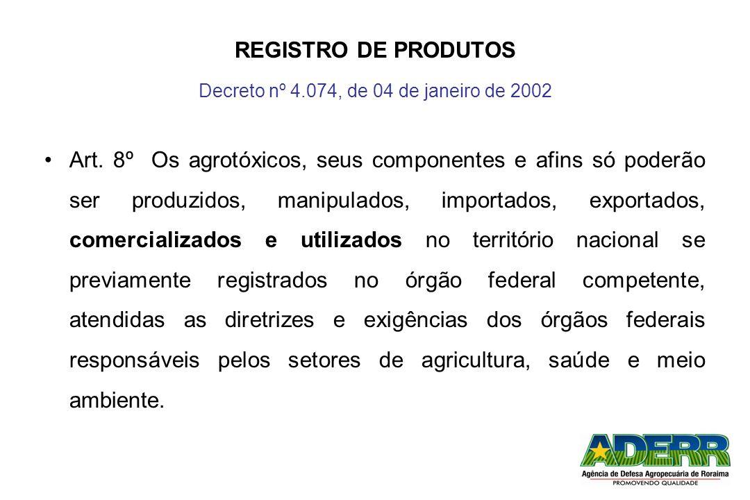 Decreto nº 4.074, de 04 de janeiro de 2002