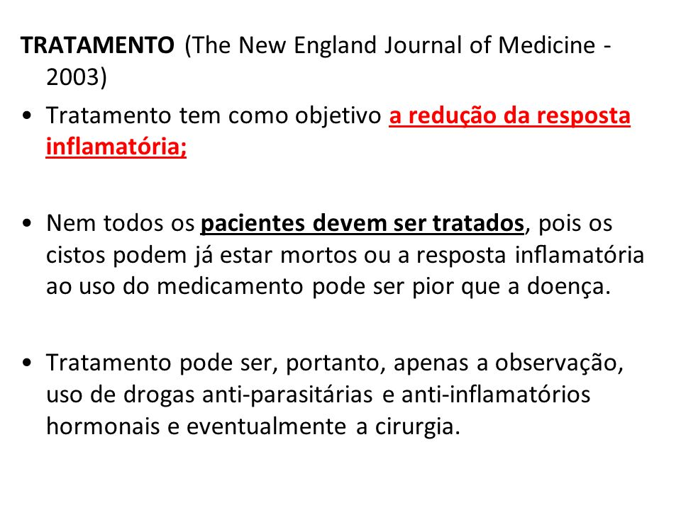 TRATAMENTO (The New England Journal of Medicine - 2003)