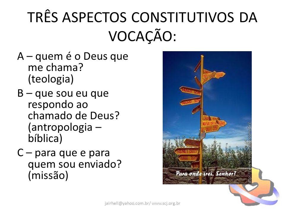 TRÊS ASPECTOS CONSTITUTIVOS DA VOCAÇÃO: