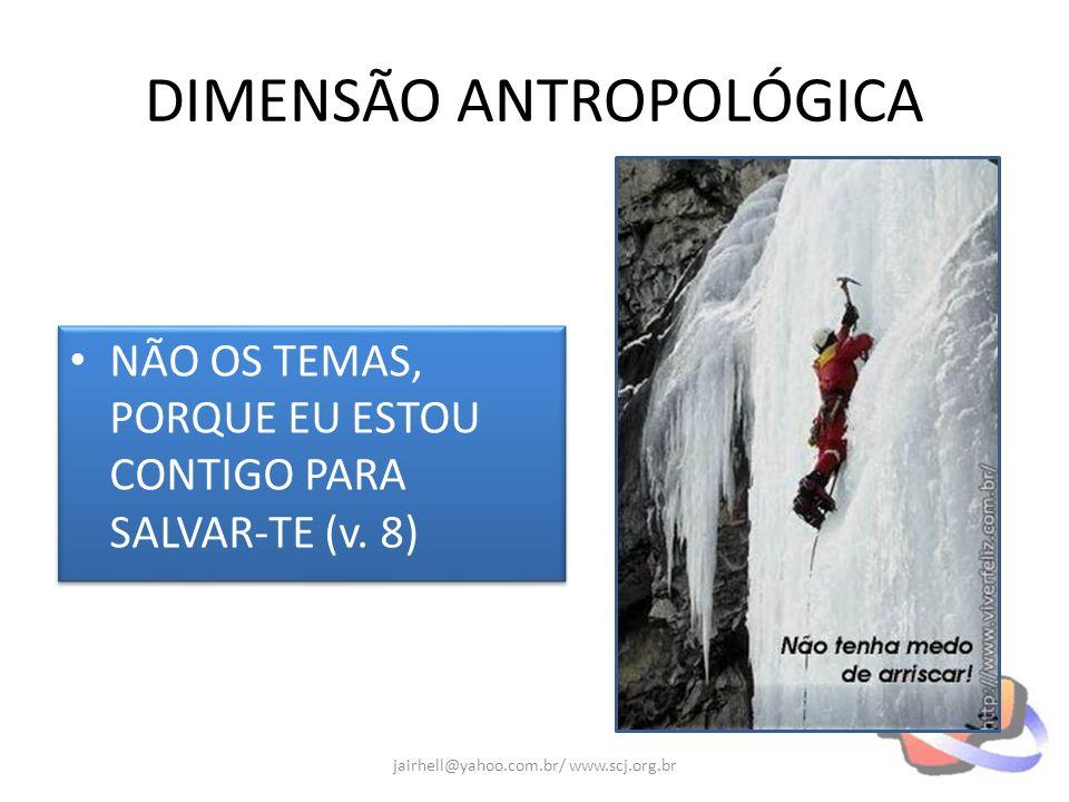 DIMENSÃO ANTROPOLÓGICA