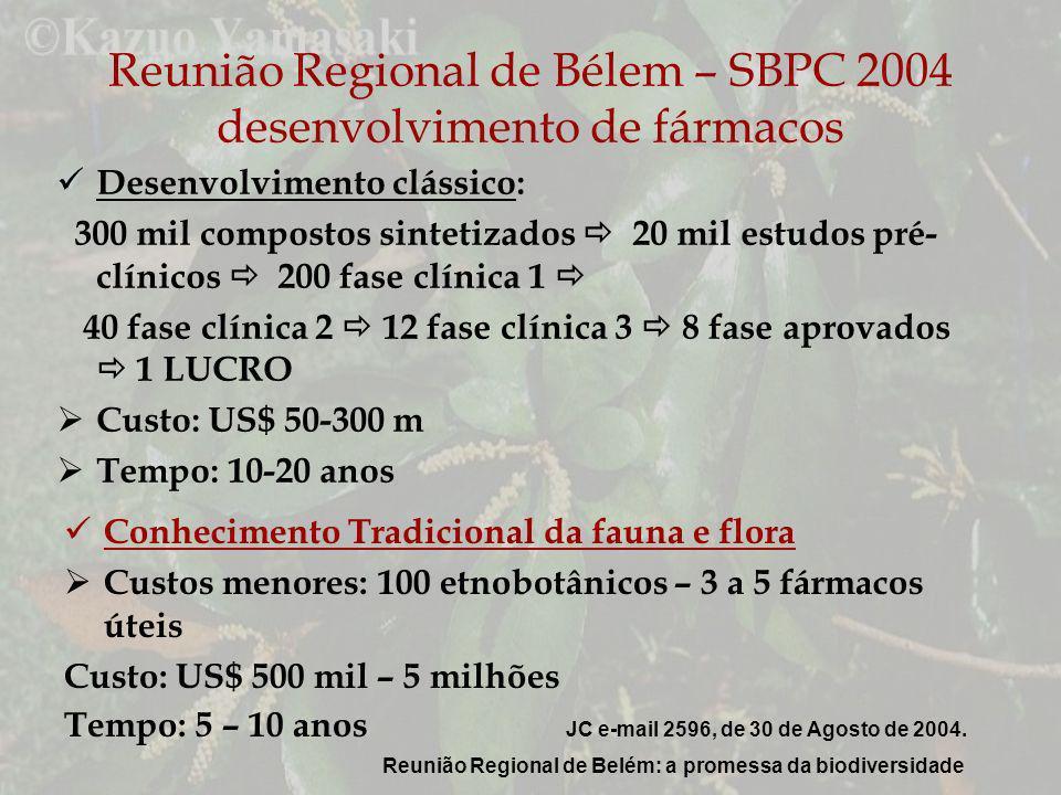 Reunião Regional de Bélem – SBPC 2004 desenvolvimento de fármacos