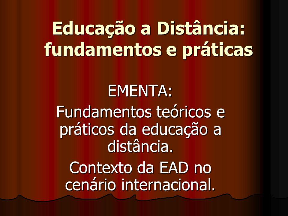 Educação a Distância: fundamentos e práticas