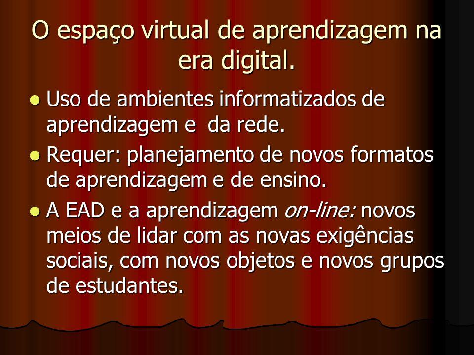 O espaço virtual de aprendizagem na era digital.