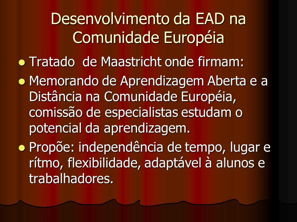 Desenvolvimento da EAD na Comunidade Européia