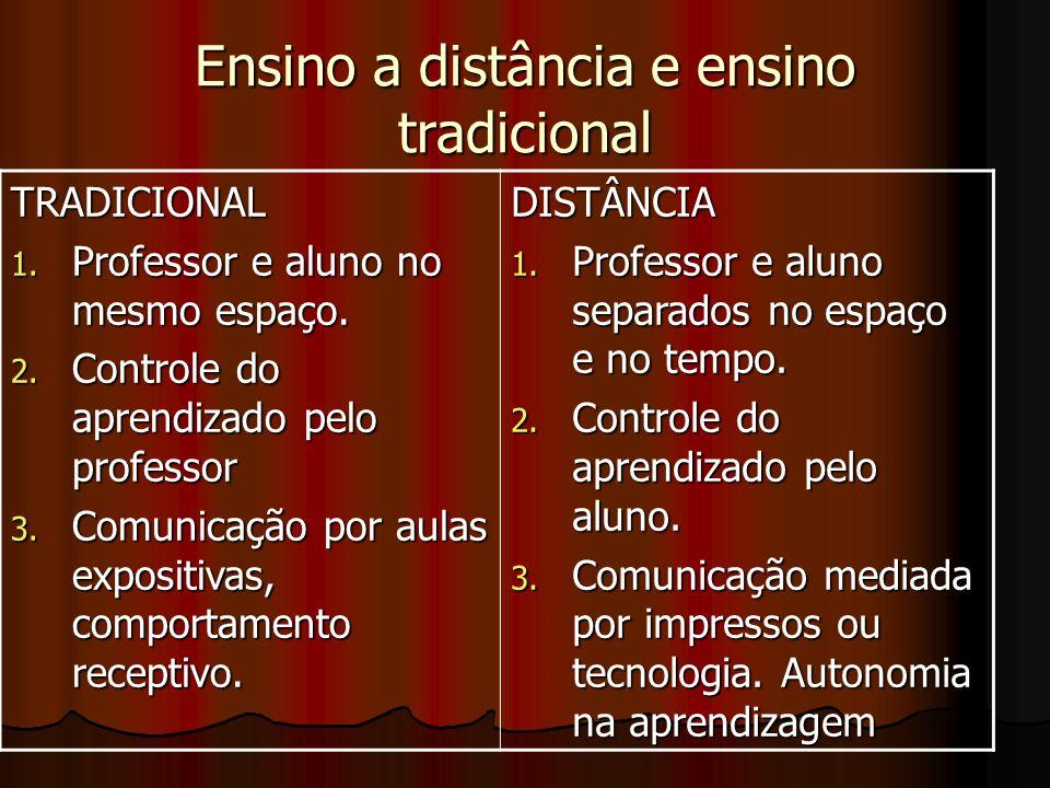 Ensino a distância e ensino tradicional