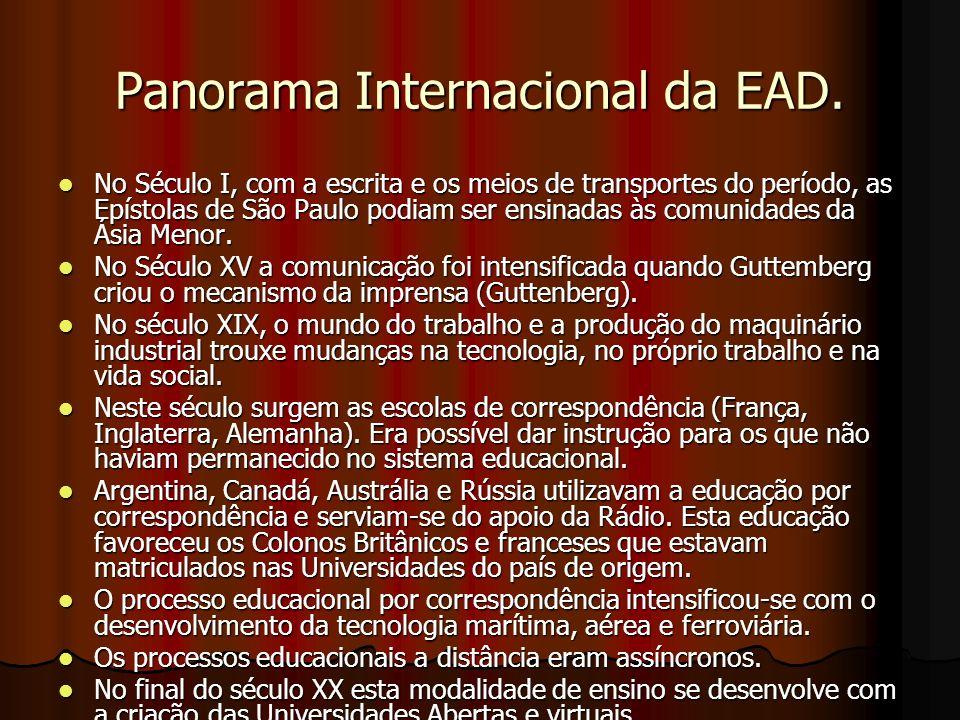 Panorama Internacional da EAD.