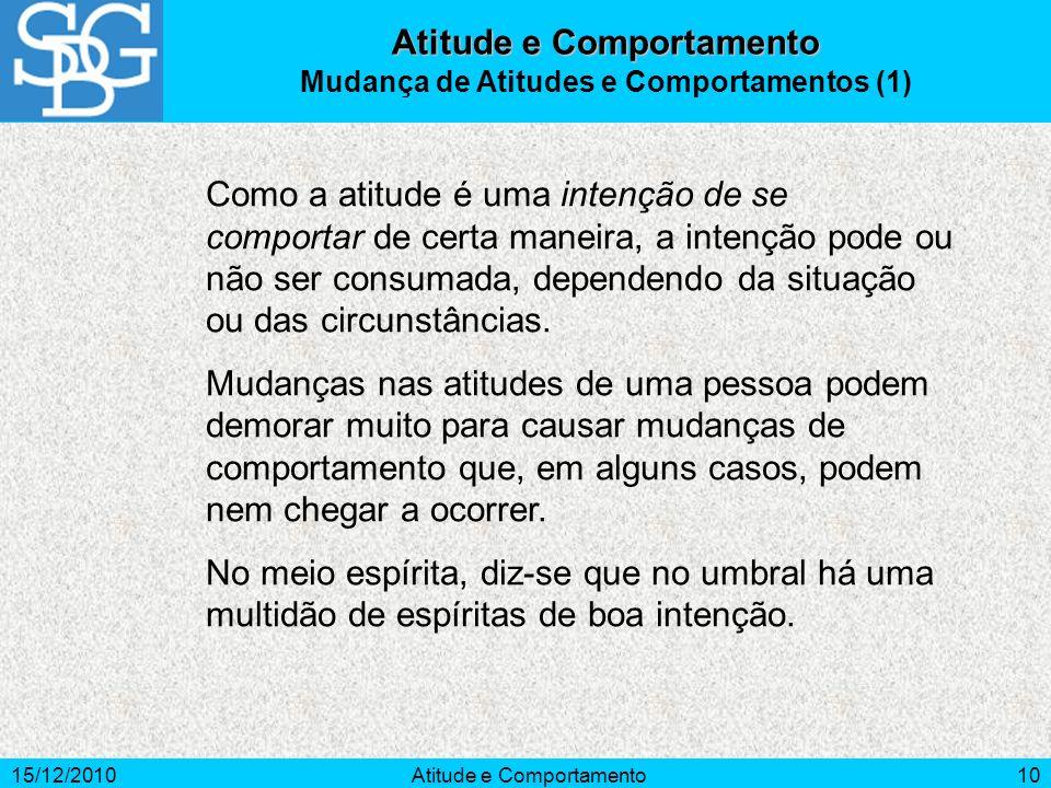 Atitude e Comportamento Mudança de Atitudes e Comportamentos (1)