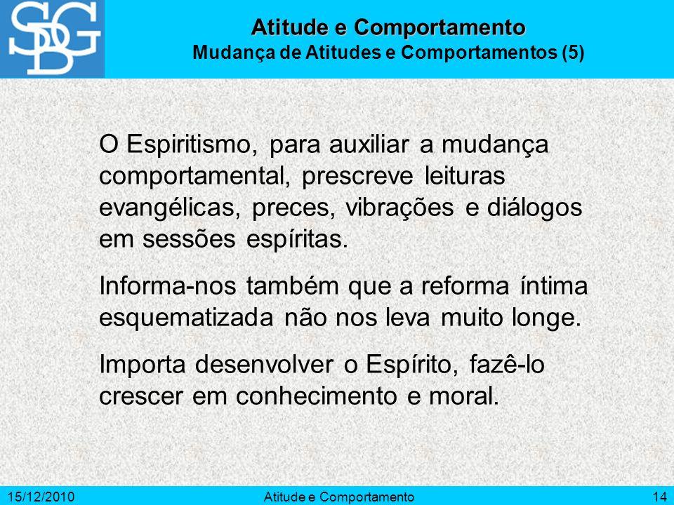 Atitude e Comportamento Mudança de Atitudes e Comportamentos (5)
