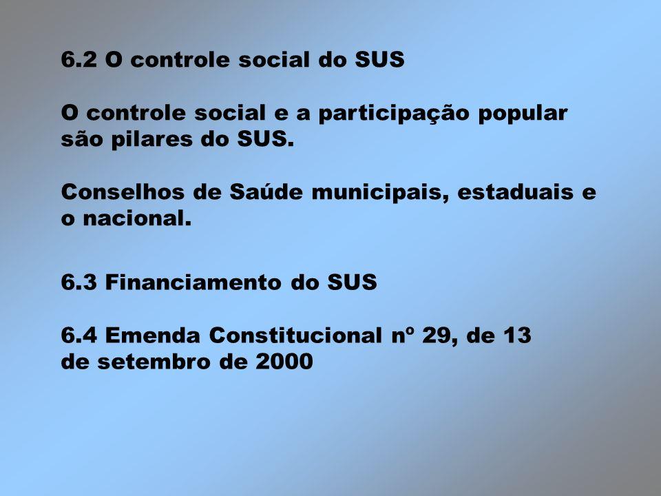 6.2 O controle social do SUS