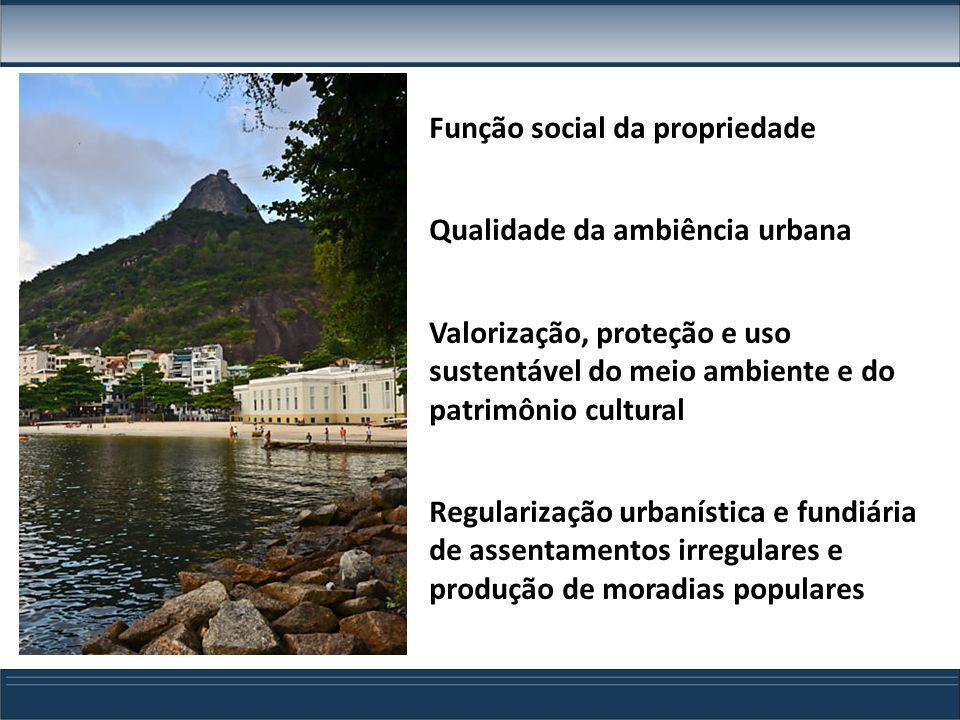 Função social da propriedade Qualidade da ambiência urbana