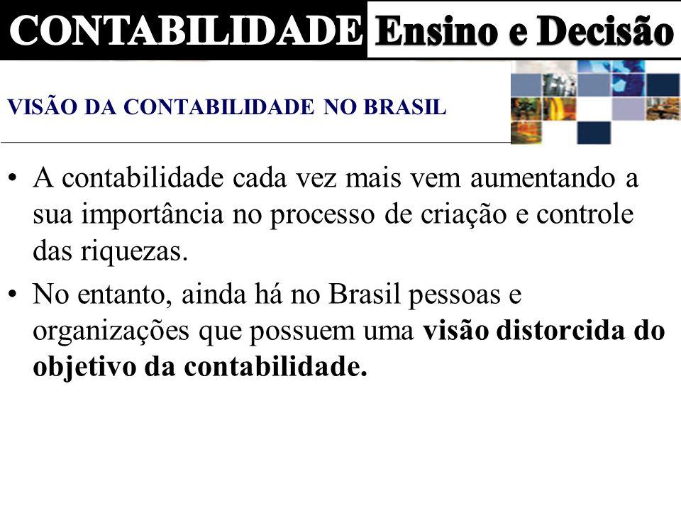 VISÃO DA CONTABILIDADE NO BRASIL
