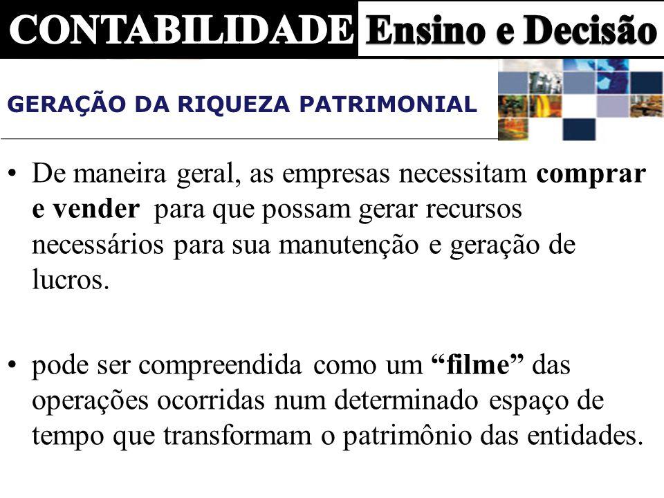 GERAÇÃO DA RIQUEZA PATRIMONIAL