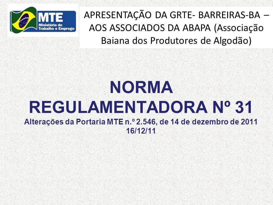 APRESENTAÇÃO DA GRTE- BARREIRAS-BA – AOS ASSOCIADOS DA ABAPA (Associação Baiana dos Produtores de Algodão)