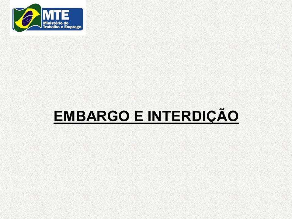 EMBARGO E INTERDIÇÃO