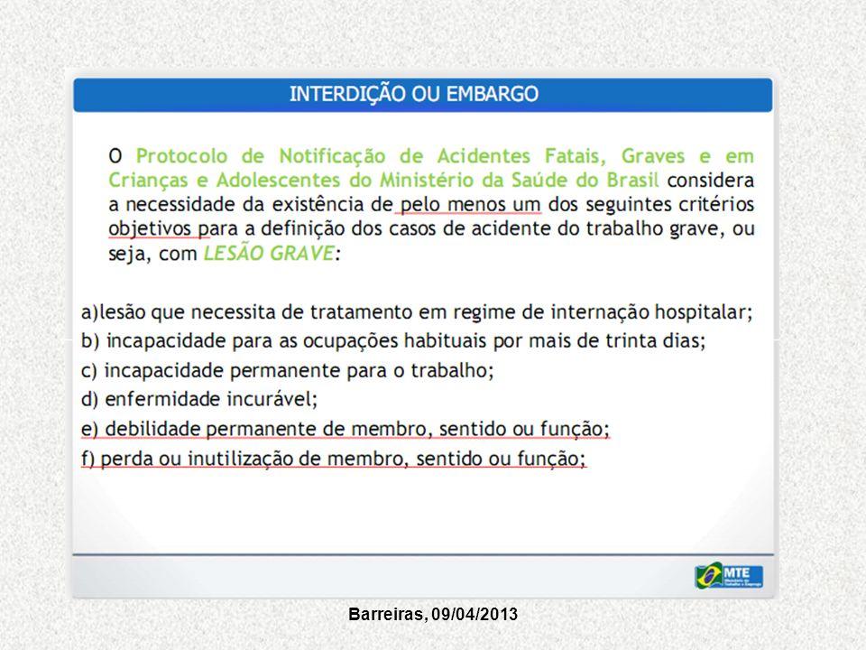 Barreiras, 09/04/2013
