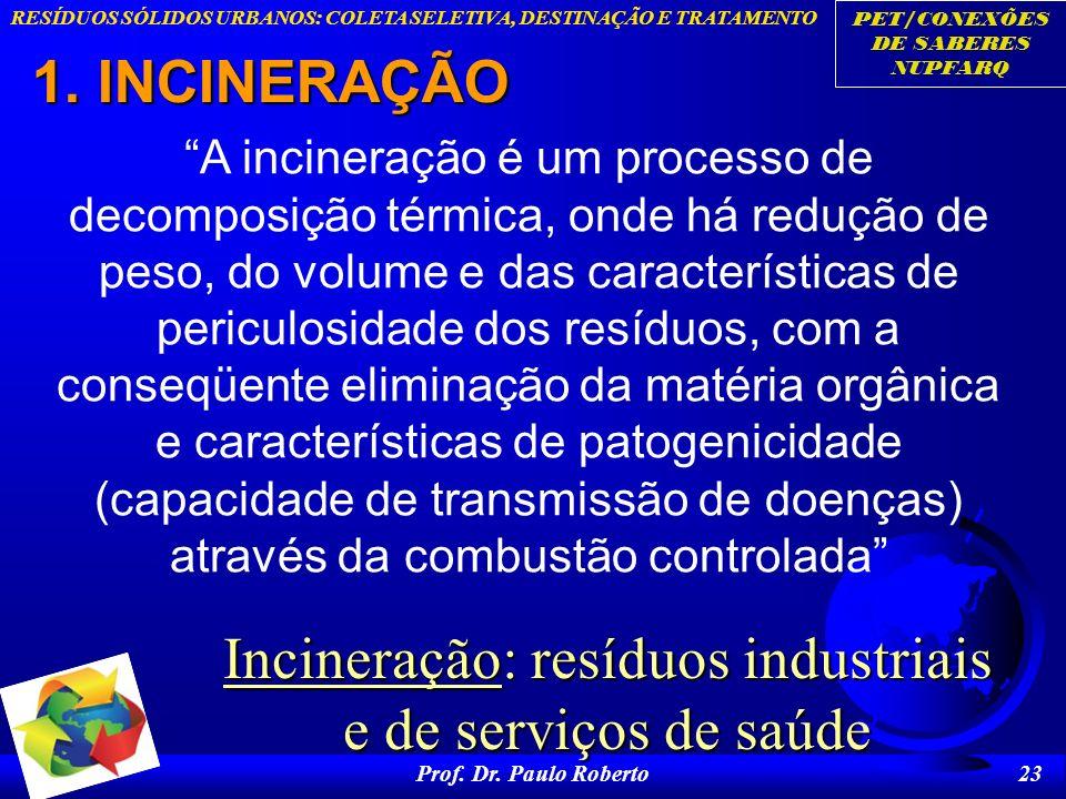 Incineração: resíduos industriais e de serviços de saúde