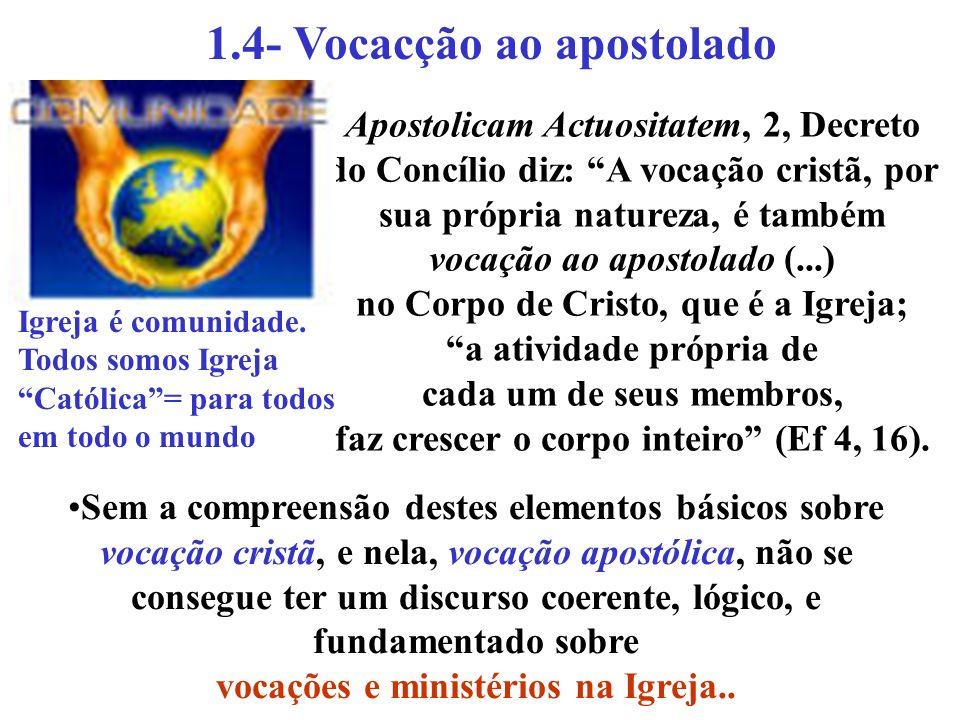 1.4- Vocacção ao apostolado