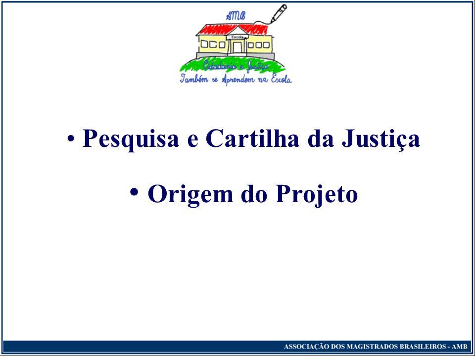 Pesquisa e Cartilha da Justiça