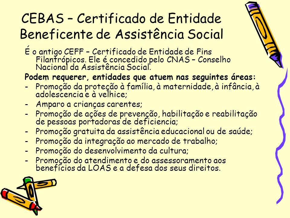 CEBAS – Certificado de Entidade Beneficente de Assistência Social