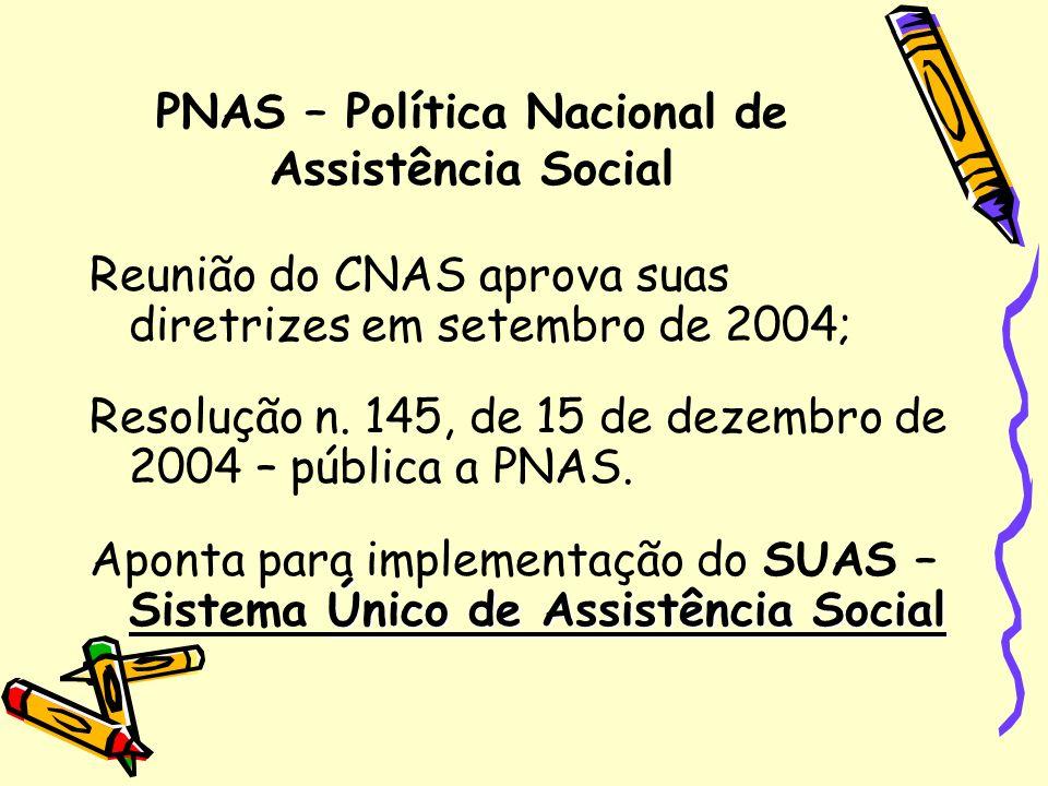 PNAS – Política Nacional de Assistência Social