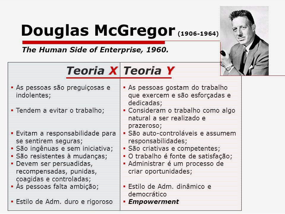 Douglas McGregor (1906-1964) Teoria X Teoria Y