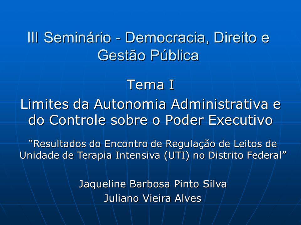 III Seminário - Democracia, Direito e Gestão Pública