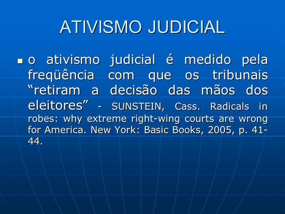 ATIVISMO JUDICIAL