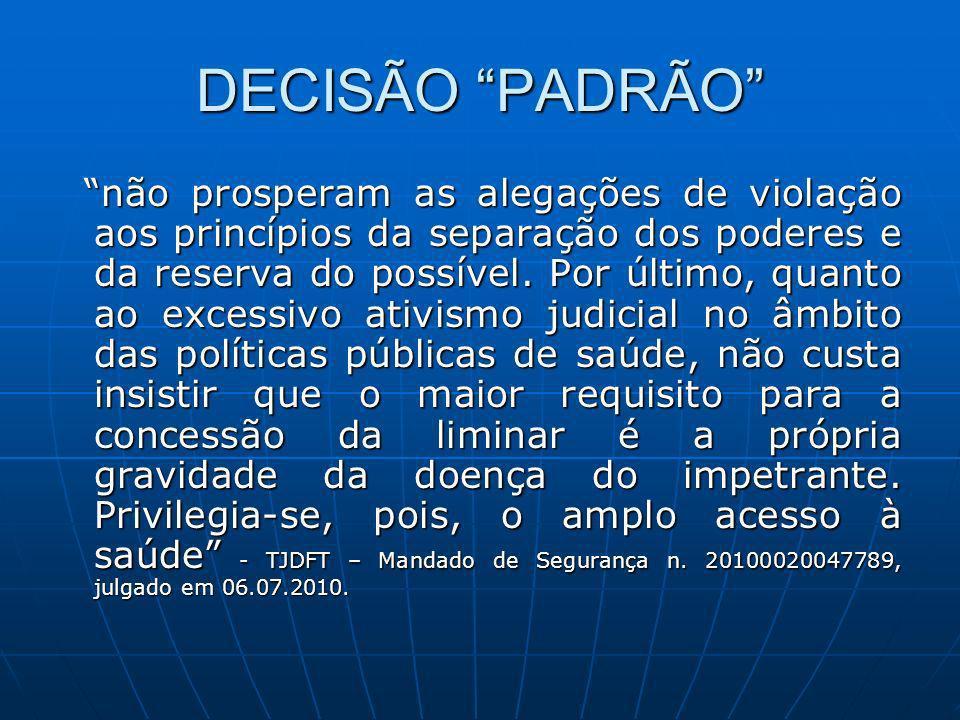 DECISÃO PADRÃO