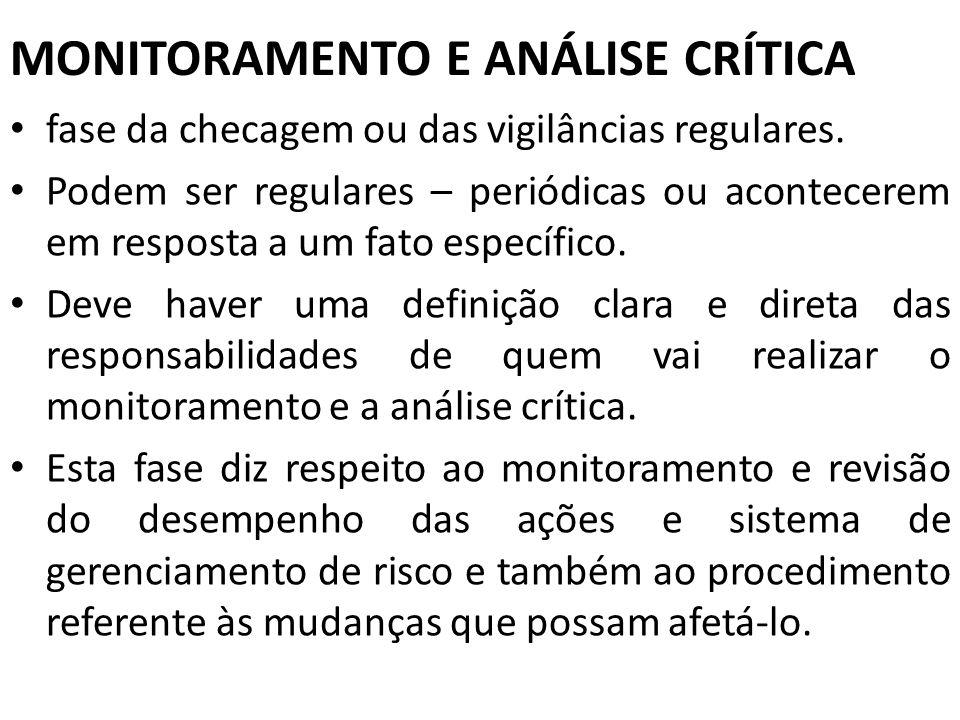 MONITORAMENTO E ANÁLISE CRÍTICA
