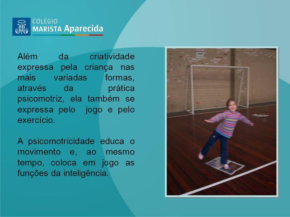 Além da criatividade expressa pela criança nas mais variadas formas, através da prática psicomotriz, ela também se expressa pelo jogo e pelo exercício.