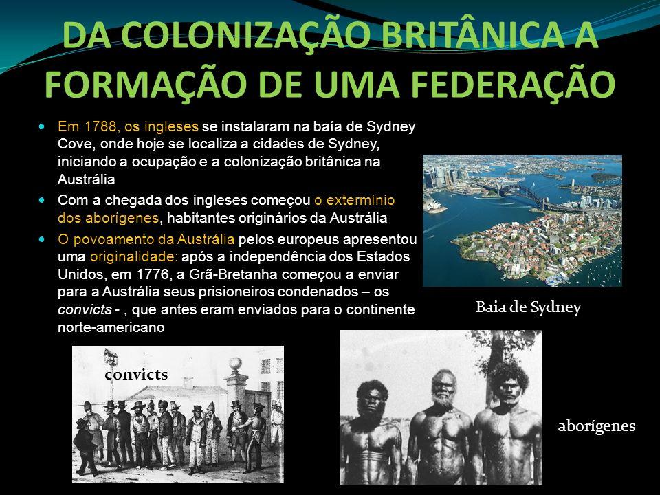 DA COLONIZAÇÃO BRITÂNICA A FORMAÇÃO DE UMA FEDERAÇÃO