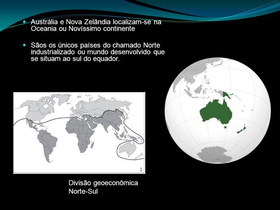 Austrália e Nova Zelândia localizam-se na Oceania ou Novíssimo continente