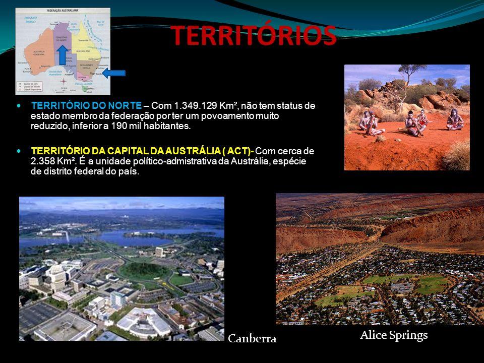 TERRITÓRIOS Alice Springs Canberra