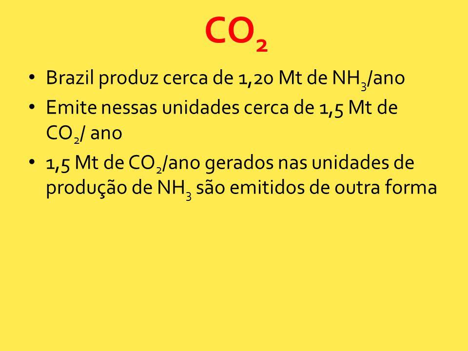 CO2 Brazil produz cerca de 1,20 Mt de NH3/ano