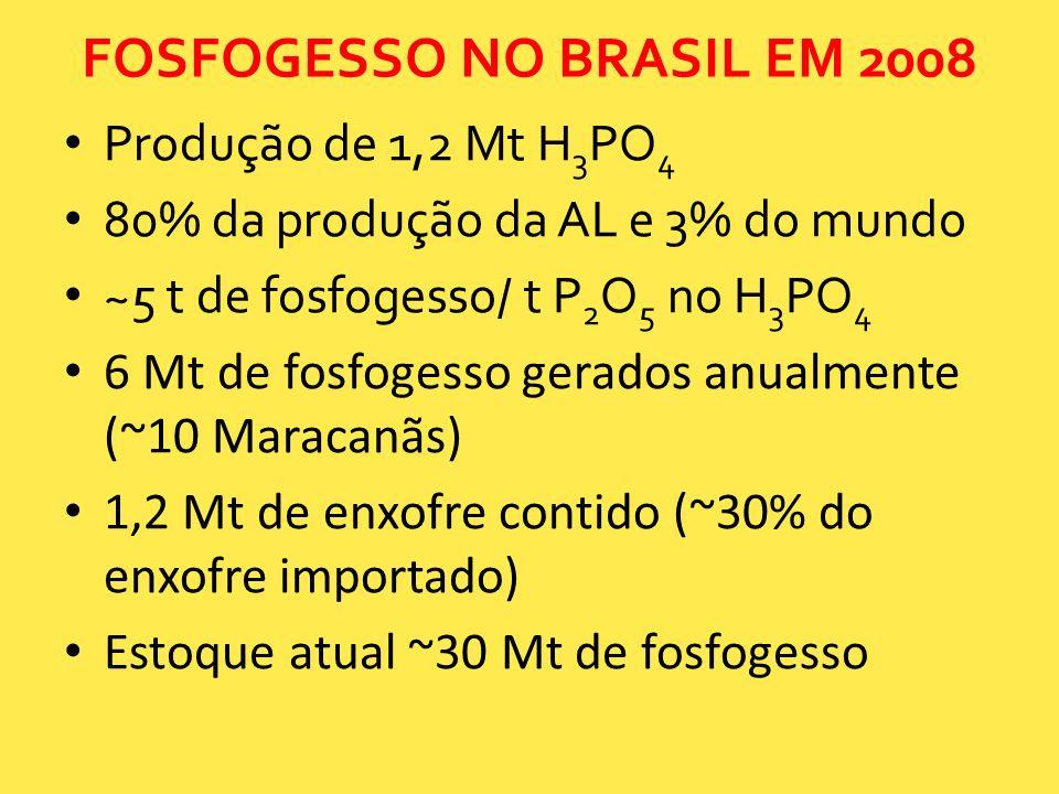 FOSFOGESSO NO BRASIL EM 2008