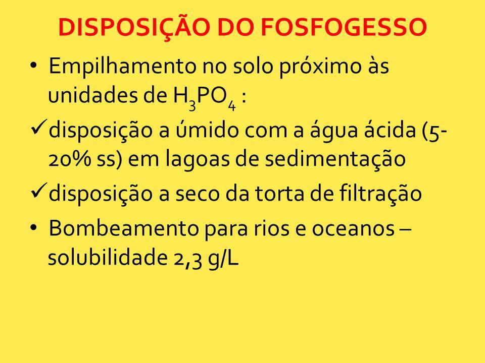 DISPOSIÇÃO DO FOSFOGESSO