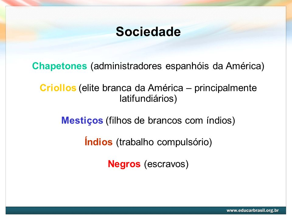 Sociedade Chapetones (administradores espanhóis da América)