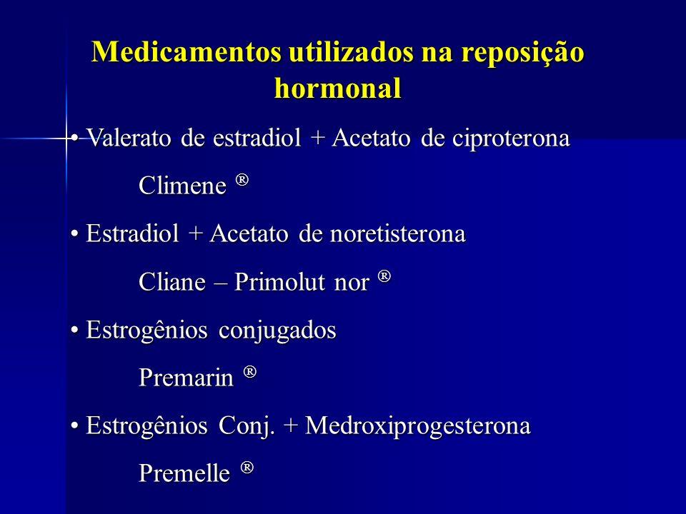 Medicamentos utilizados na reposição hormonal
