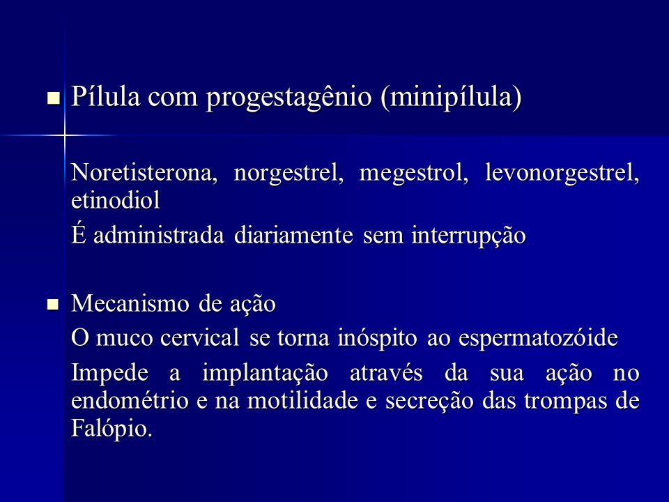 Pílula com progestagênio (minipílula)