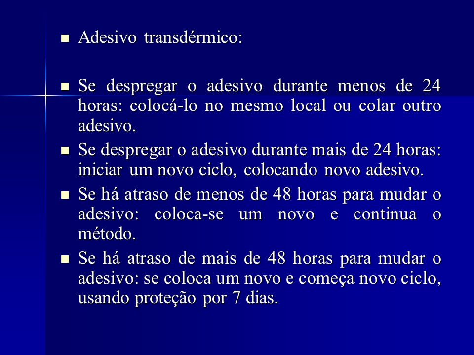 Adesivo transdérmico: