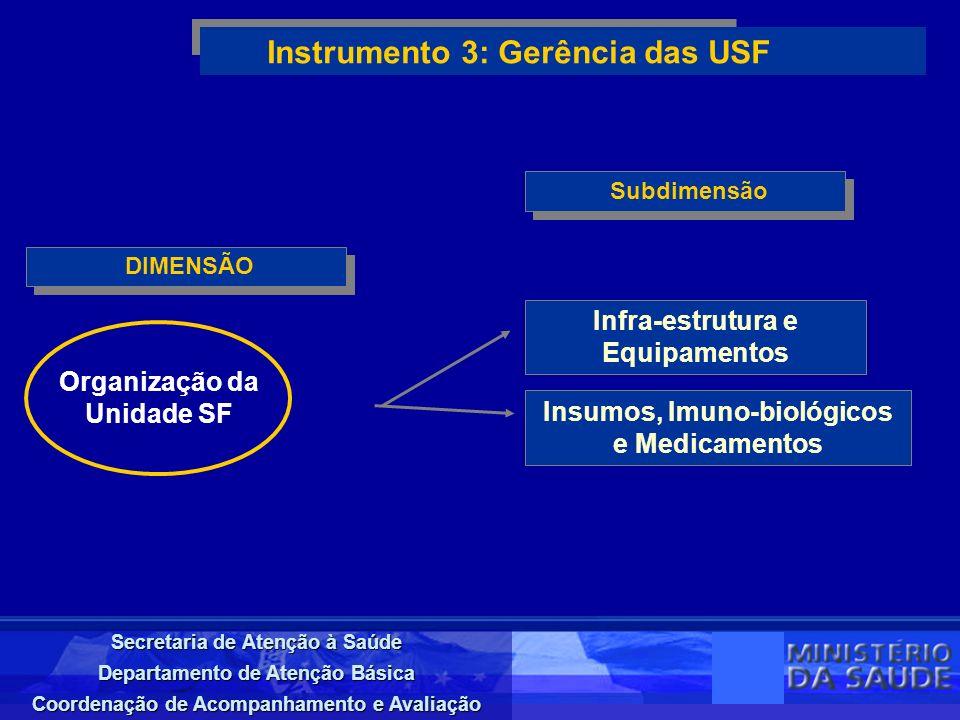 Instrumento 3: Gerência das USF