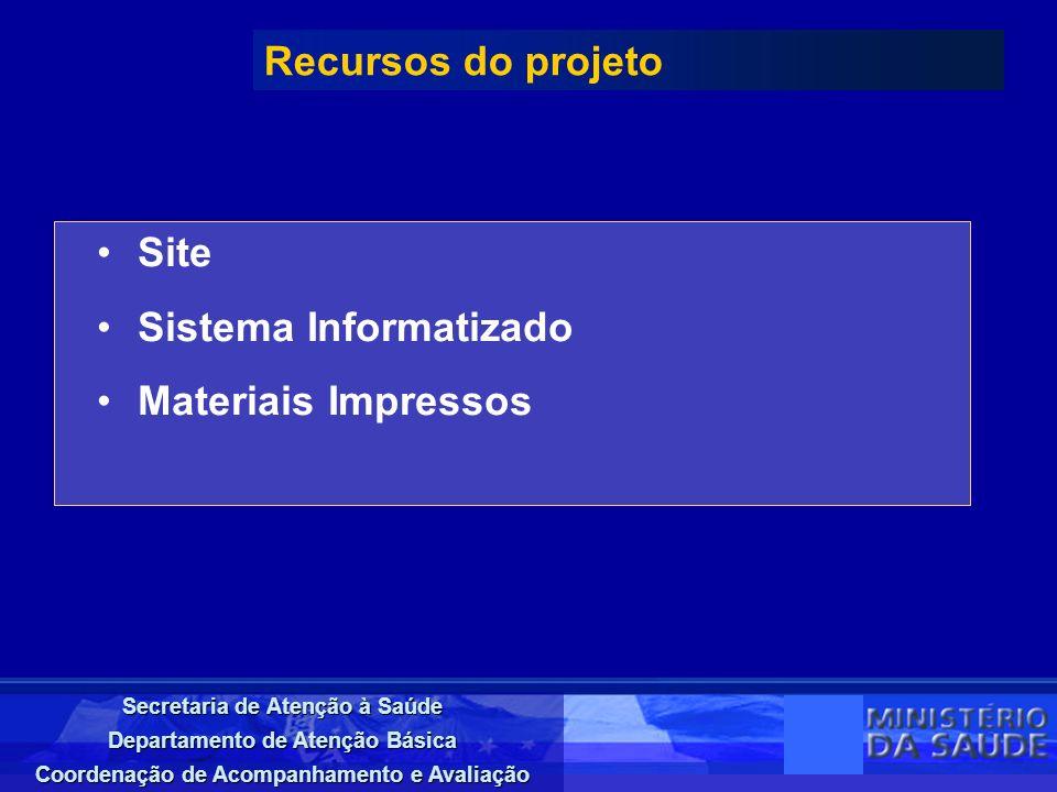 Recursos do projeto Site Sistema Informatizado Materiais Impressos