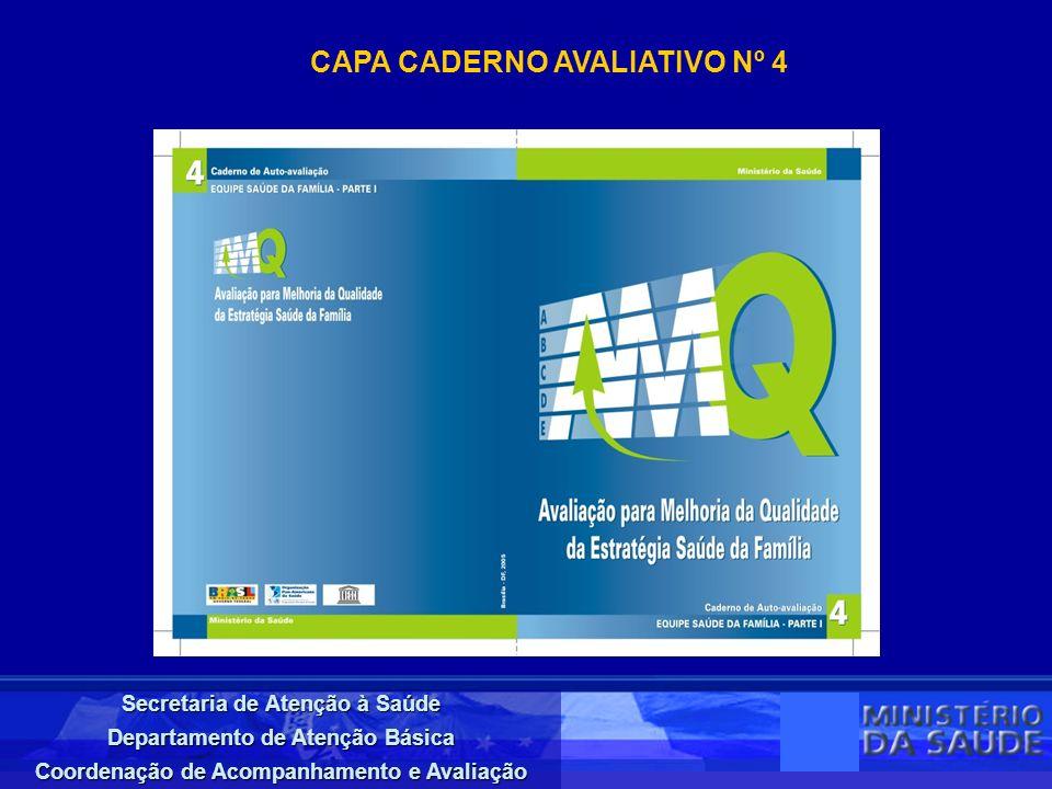 CAPA CADERNO AVALIATIVO Nº 4