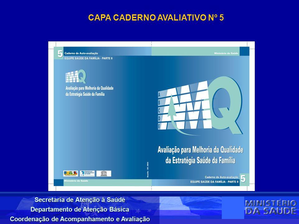CAPA CADERNO AVALIATIVO Nº 5