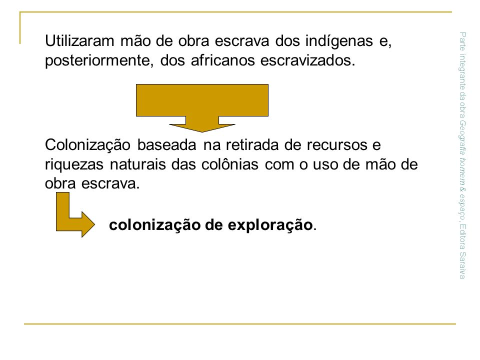 colonização de exploração.