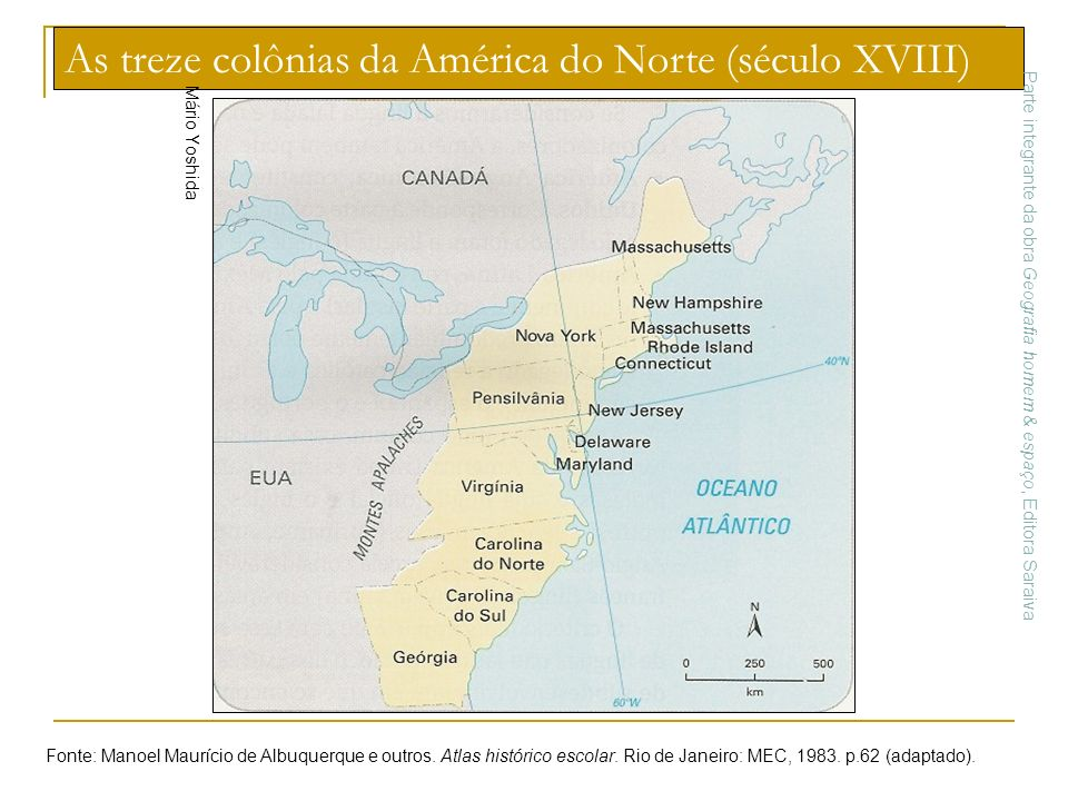 As treze colônias da América do Norte (século XVIII)